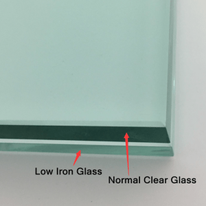 Difference between low iron tempered glass and normal glass