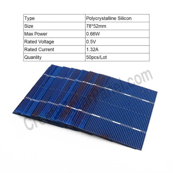 Watt Rating Of Solar Cells